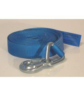 Lierband nylon blauw 4000kg met haak