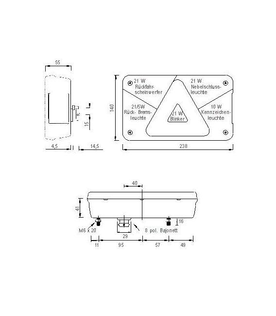 Aspöck Multipoint 5 en 8 pins stekkeraansluiting.