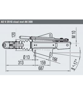 Oplooprem 251-G AL-KO V-dissel opbouw