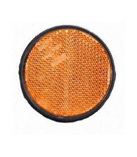 Zijreflector oranje plak rond