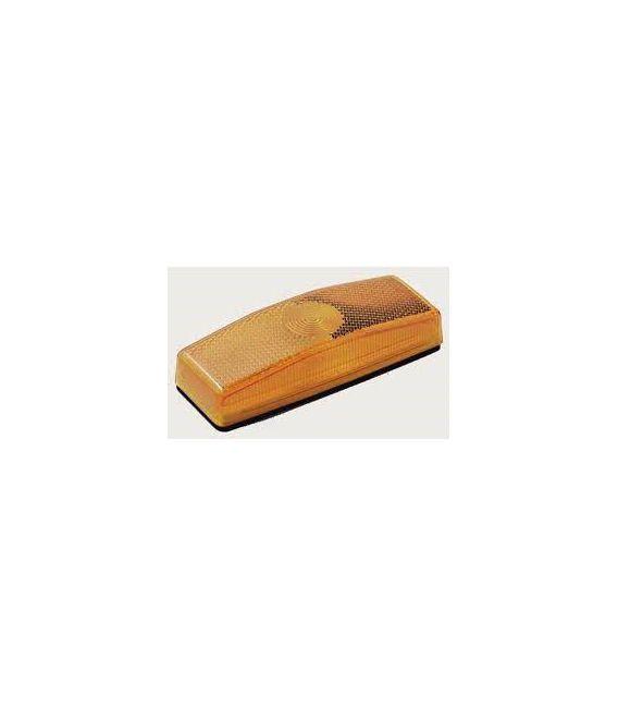 Zijmarkeringslamp oranje 110x43 vlak.