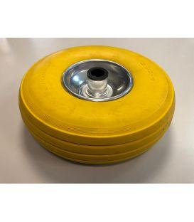 Centreerset wiel 260x85mm asgat Ø 20mm massief (geel)